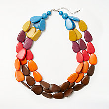 Buy One Button N1585 Long Beaded Necklace, Multi Online at johnlewis.com
