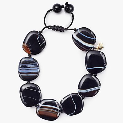 Lola Rose Reagan Bracelet, Black Stripe Agate