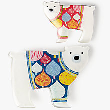 Buy One Button Polar Bear Brooch, Set of 2, Multi Online at johnlewis.com