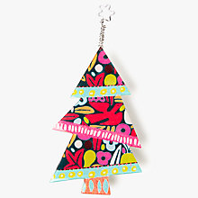 Buy One Button Christmas Tree Brooch, Multi Online at johnlewis.com