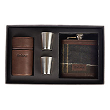 Buy Barbour Hip Flask And Cups Gift Box, Tartan Online at johnlewis.com