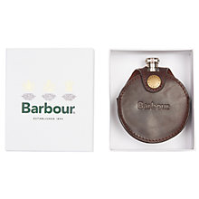 Buy Barbour Round Leather Hip Flask, Brown Online at johnlewis.com