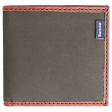 Buy Barbour Dry Wax Cotton Wallet, Olive Online at johnlewis.com