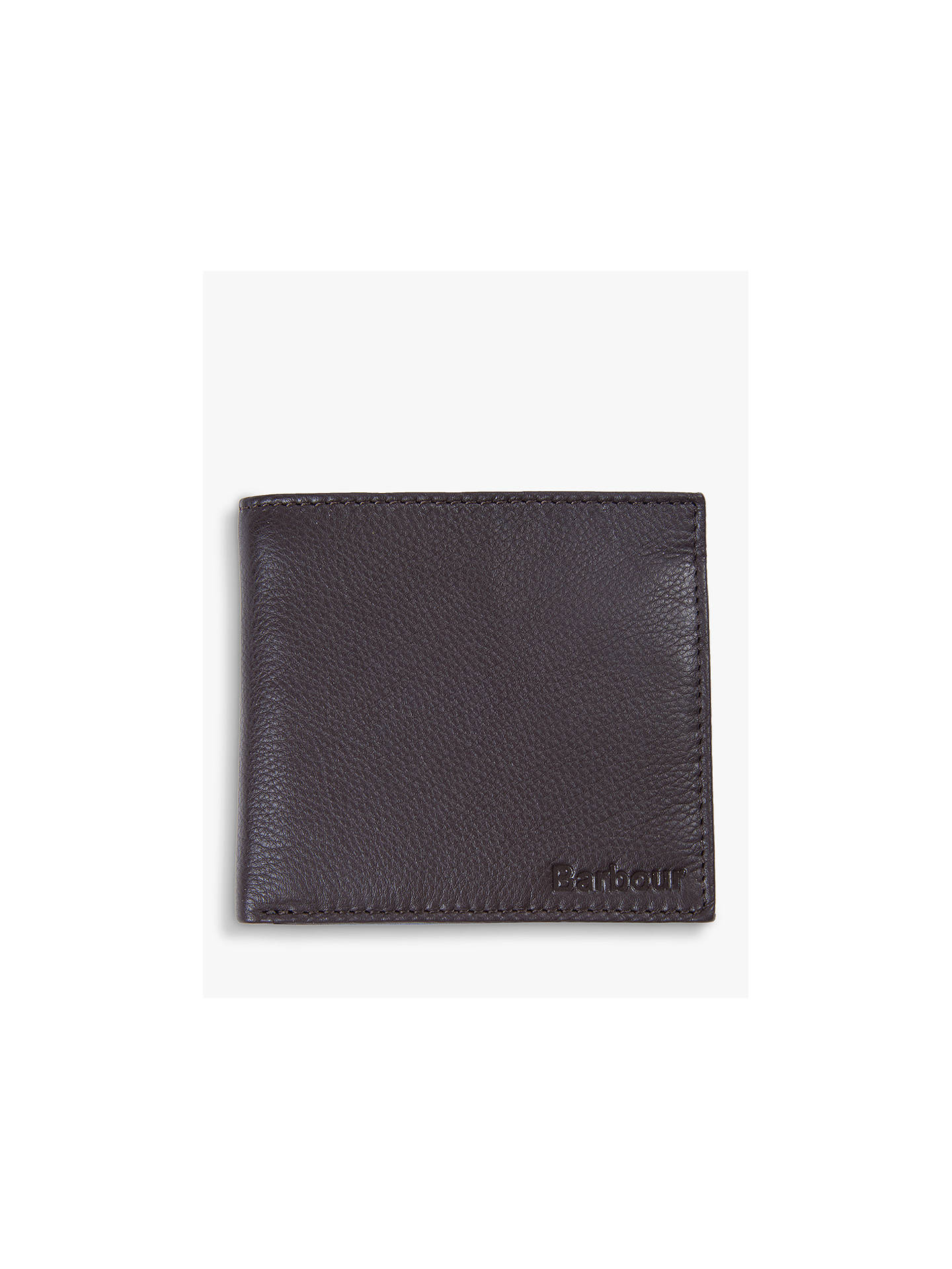 ca08e14a ... Buy Barbour Grain Leather Wallet, Brown Online at johnlewis.com ...