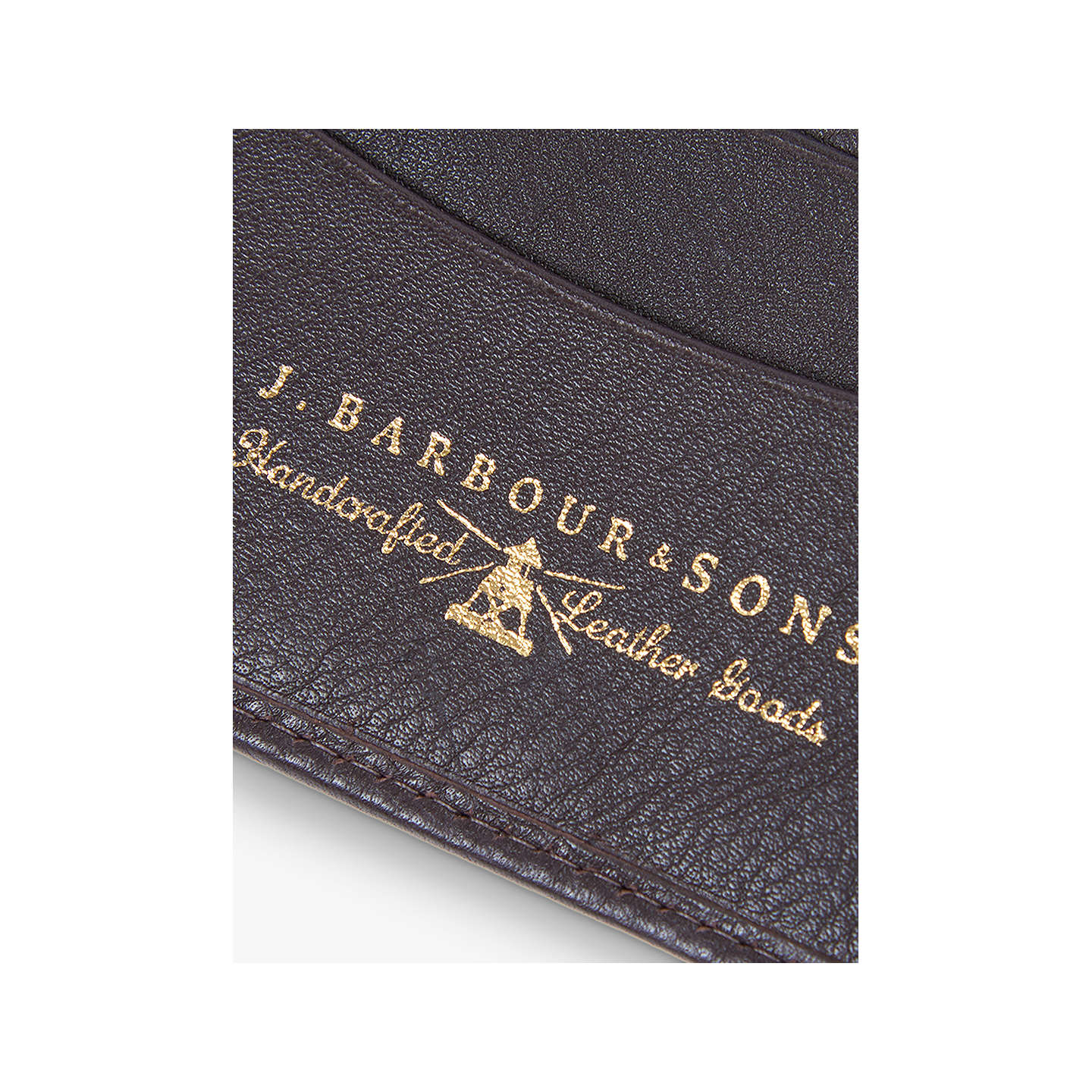 BuyBarbour Grain Leather Wallet, Brown Online at johnlewis.com