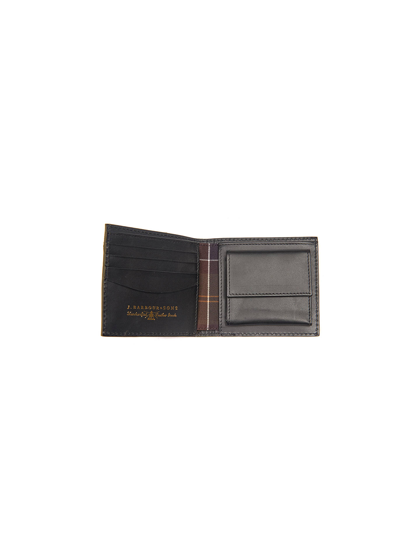95cb01a1 ... Buy Barbour Leather Coin Wallet, Black Online at johnlewis.com ...