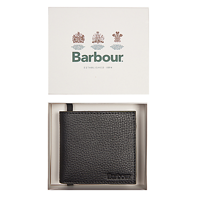Barbour Leather Coin Wallet, Black