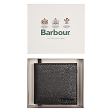 Buy Barbour Leather Coin Wallet, Black Online at johnlewis.com
