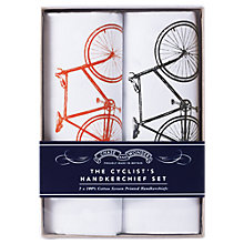 Buy Chase and Wonder The Cyclist's Handkerchief Set, Pack of 2 Online at johnlewis.com