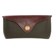 Buy Barbour Drywax Glasses Case, Olive Online at johnlewis.com