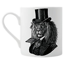 Buy Chase and Wonder Dandy Lion Fine China Mug, White Online at johnlewis.com