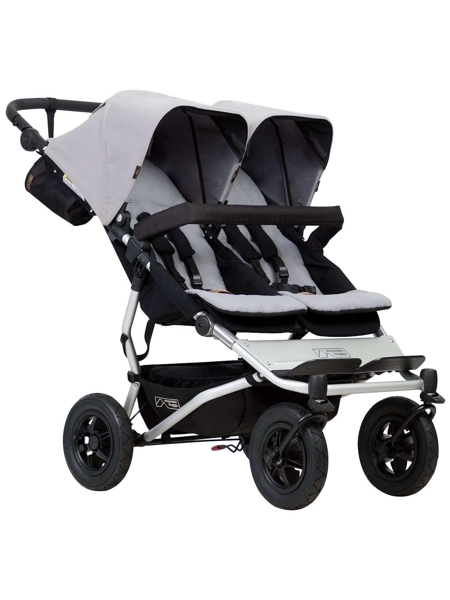 Buy Mountain Buggy Duet V3 Pushchair, Silver Online at johnlewis.com