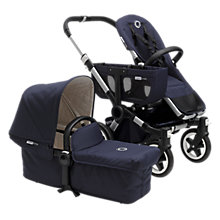 Buy Bugaboo Navy Donkey Classic+ Complete Twin Pushchair Bundle Online at johnlewis.com