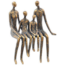 Buy Libra Sitting Family Of Four Shelf, Bronze Online at johnlewis.com