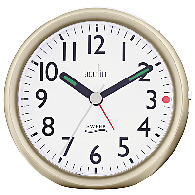 Acctim Ffion Sweep Alarm Clock, Champagne