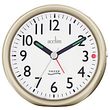 Buy Acctim Ffion Sweep Alarm Clock, Champagne Online at johnlewis.com
