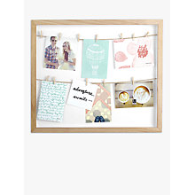 Buy Umbra Clothesline Multi-aperture Photo Frame, Natural Online at johnlewis.com