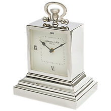 Buy Libra Latham Square Mantel Clock, Silver Online at johnlewis.com