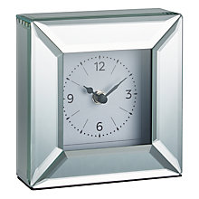 Buy John Lewis Simple Bevel Mantel Clock, Clear Online at johnlewis.com