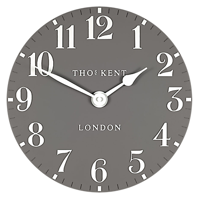 Thomas Kent Cotswold Wall Clock, Dia.30cm, Grey