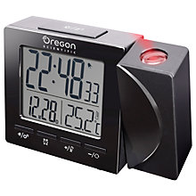 Buy Oregon Scientific Temperature Projection Clock, Black Online at johnlewis.com