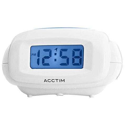 buy acctim aura digital alarm clock white john lewis. Black Bedroom Furniture Sets. Home Design Ideas