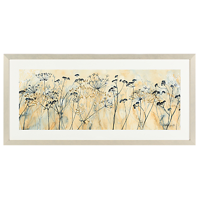 Catherine Stephenson – Cow Parsley Framed Print, 104.5 x 49.5cm