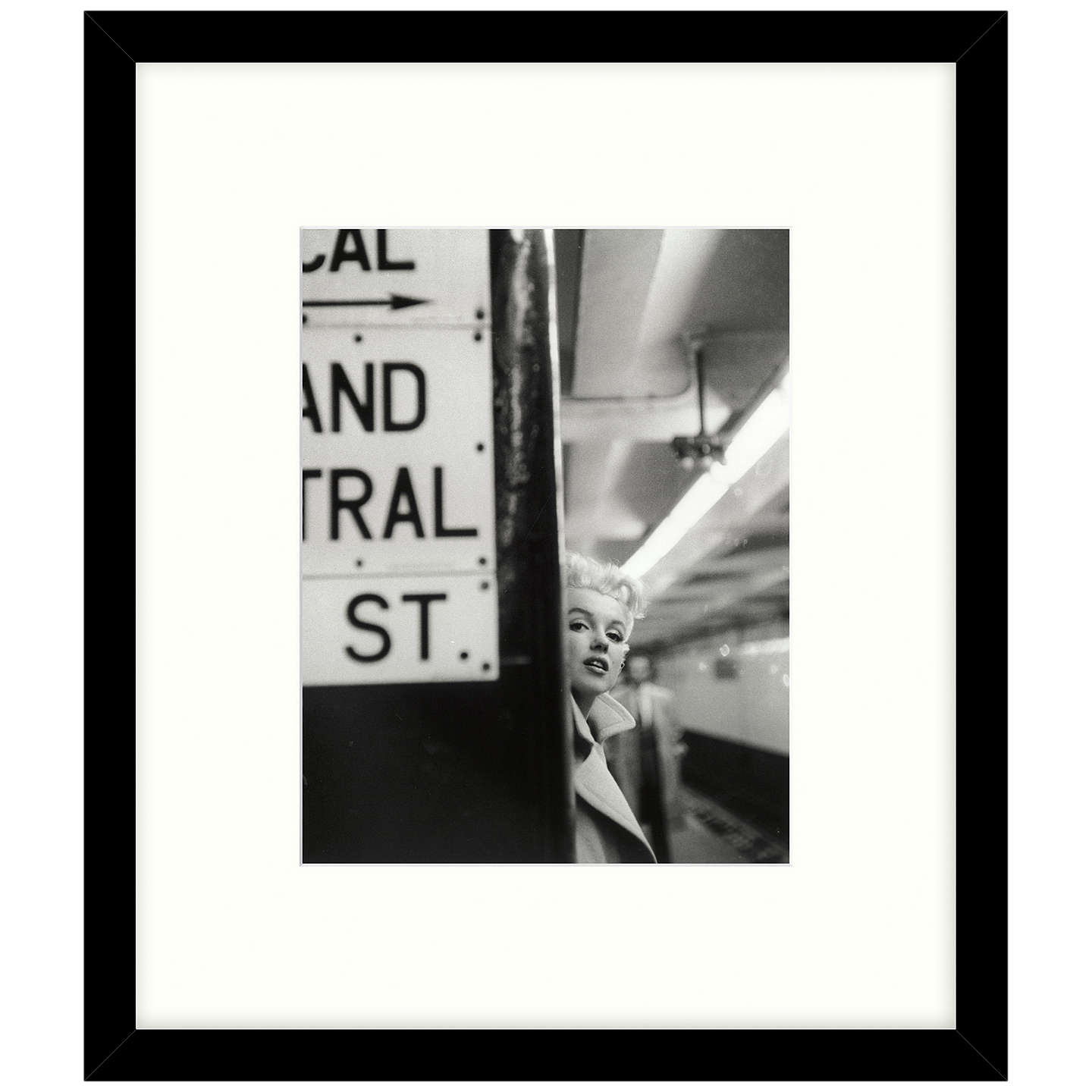 BuyGetty Images Gallery - Marilyn In Central Station Framed Print, 49 x 57cm Online at johnlewis.com