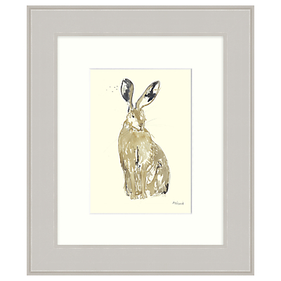 Mimi Emmet – Thinking Hare Framed Print, 31 x 37cm