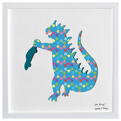 Bertie & Jack Mr Dino Framed 3D Cut Out Print, 27 x 27cm