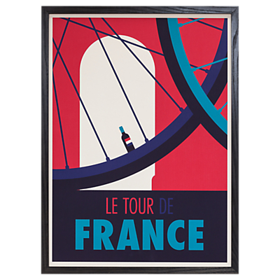 Spencer Wilson – Le Tour De France Framed Print, 73 x 53cm