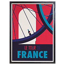 Buy Spencer Wilson - Le Tour De France Framed Print, 73 x 53cm Online at johnlewis.com