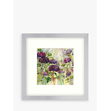 Buy Catherine Stephenson - Hydrangea Burst Plumb Framed Print, 33 x 33cm Online at johnlewis.com