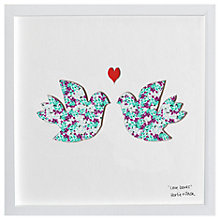 Buy Bertie & Jack Love Doves Framed 3D Cut Out Print, 27 x 27cm Online at johnlewis.com