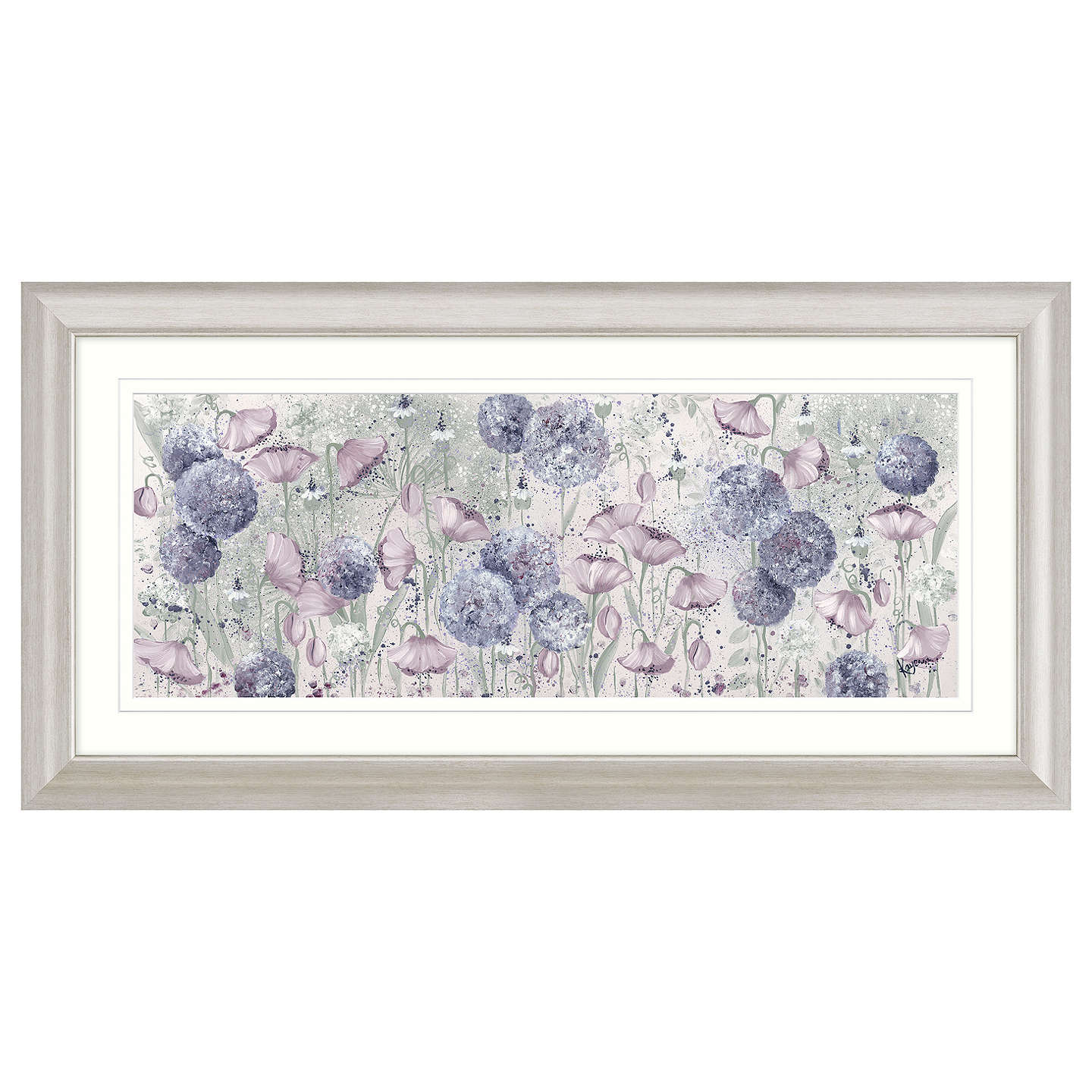 BuyKaye Lake - Early Morning Meadow Framed Print, 110.5 x 55.5cm Online at johnlewis.com