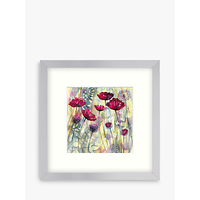 Catherine Stephenson – Raspberry Poppy Detail 1 Framed Print, 33 x 33cm