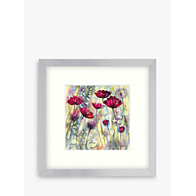 Buy Catherine Stephenson - Raspberry Poppy Detail 1 Framed Print, 33 x 33cm Online at johnlewis.com