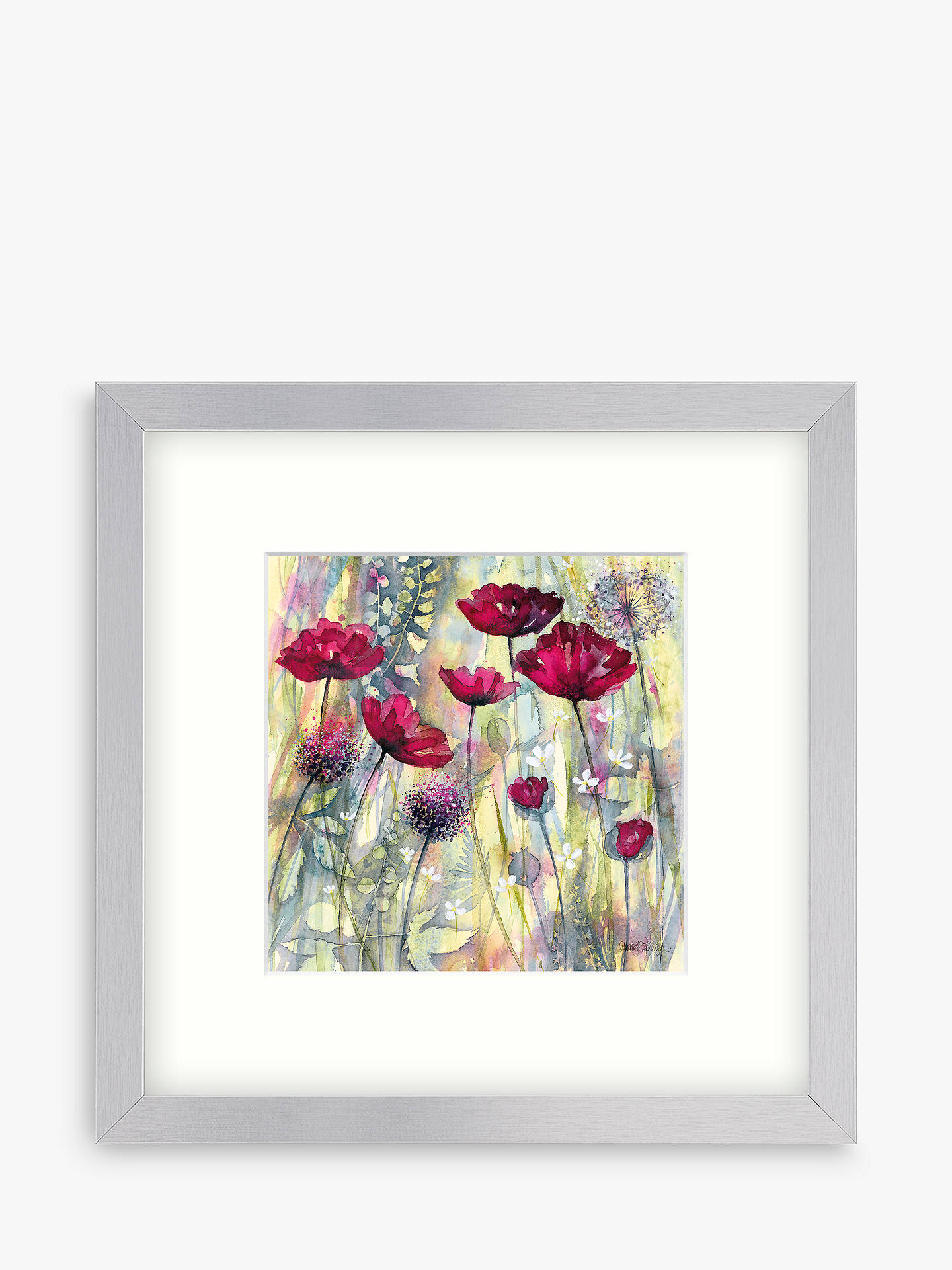 BuyCatherine Stephenson - Raspberry Poppy Detail 1 Framed Print, 33 x 33cm Online at johnlewis.com