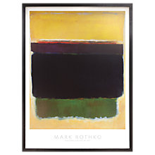 Buy Mark Rothko - Yellow 1949 Framed Print, 74 x 100cm Online at johnlewis.com