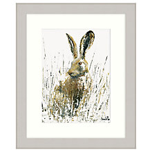 Buy Sarah Pye - Snow Hare Framed Print, 67 x 57cm Online at johnlewis.com