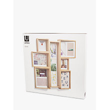 Buy Umbra Edge Multi Photo Frame Display, Natural Online at johnlewis.com