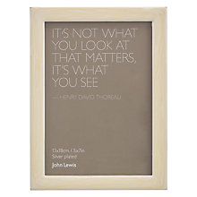 "Buy John Lewis Grace Swirl Photo Frame, 5 x 7"" (13 x 18cm), Cream Online at johnlewis.com"