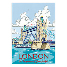 Buy Kelly Hall - London Bridge Unframed Print with Mount, 30 x 40cm Online at johnlewis.com