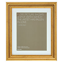 "Buy John Lewis Wilde Frame with Mount 8 x 10"" (20 x 25cm), Gold Online at johnlewis.com"