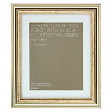 "Buy John Lewis Wilde Frame with Mount 8 x 10"" (20 x 25cm), Silver Online at johnlewis.com"