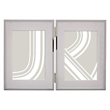 "Buy John Lewis Double Daya Photo Frame Silver, 3.5 x 5"" (9 x 13cm), Silver Online at johnlewis.com"