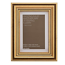 "Buy John Lewis Wilde Frame with Mount 4 x 6"" (10 x 15cm), Gold Online at johnlewis.com"