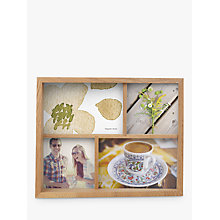 Buy Umbra Multi-aperture Edge Photo Frame, 4 Photo, Natural Online at johnlewis.com