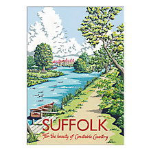 Buy Kelly Hall - Suffolk River Unframed Print with Mount, 30 x 40cm Online at johnlewis.com
