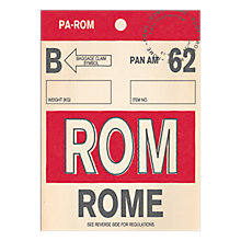 Buy Nick Cranston - Luggage Labels: Rome Unframed Print with Mount, 40 x 30cm Online at johnlewis.com
